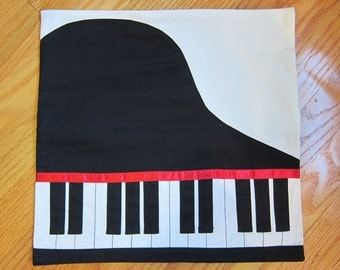 Accent Piano Pillow Case Cover for Musicians and Music Lovers Great Gift COVER ONLY J1073