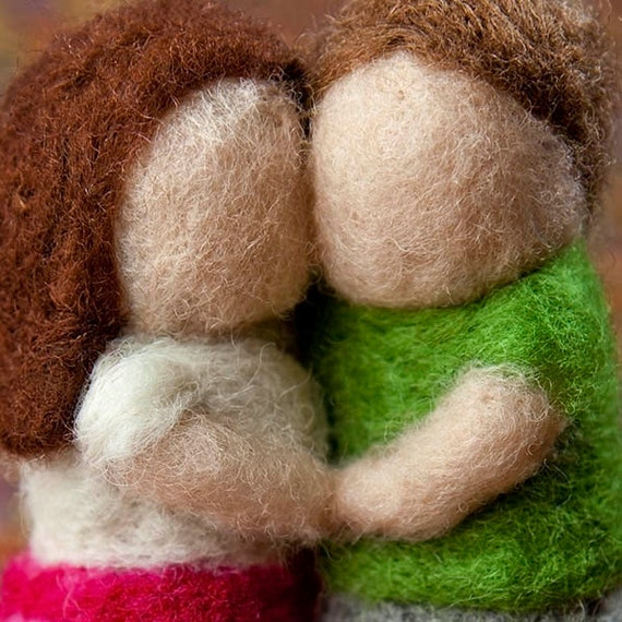 Young Couple Holding Hugging