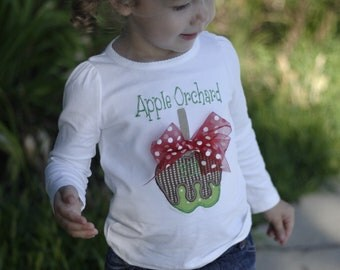 Personalized Apple Orchard Shirt - Caramel Apple