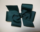 Dark Hunter Spruce Evergreen Green Hair Bow M2M Lands End School Uniform Simple Traditional Basic Classic Style Toddler Girl