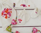 Organic baby accessories - hearts