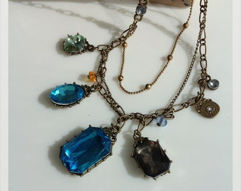 Vintage Jewelled layers necklace