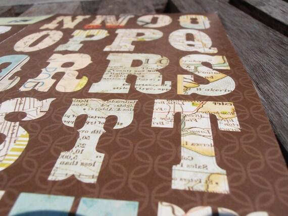Atlas Alphabet Stickers - Set of 63 - Scrapbook Supplies