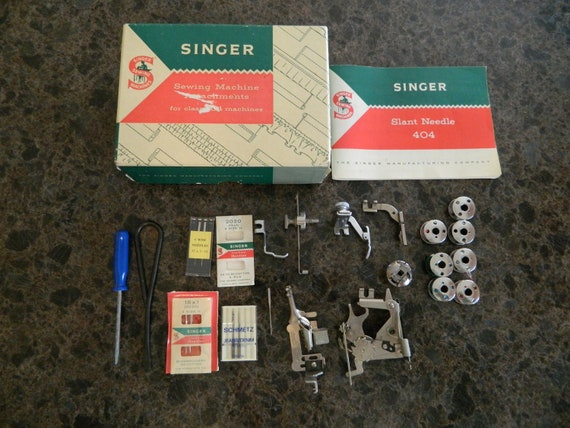 Singer Sewing Machine 404 Attachments Part No  161277 And