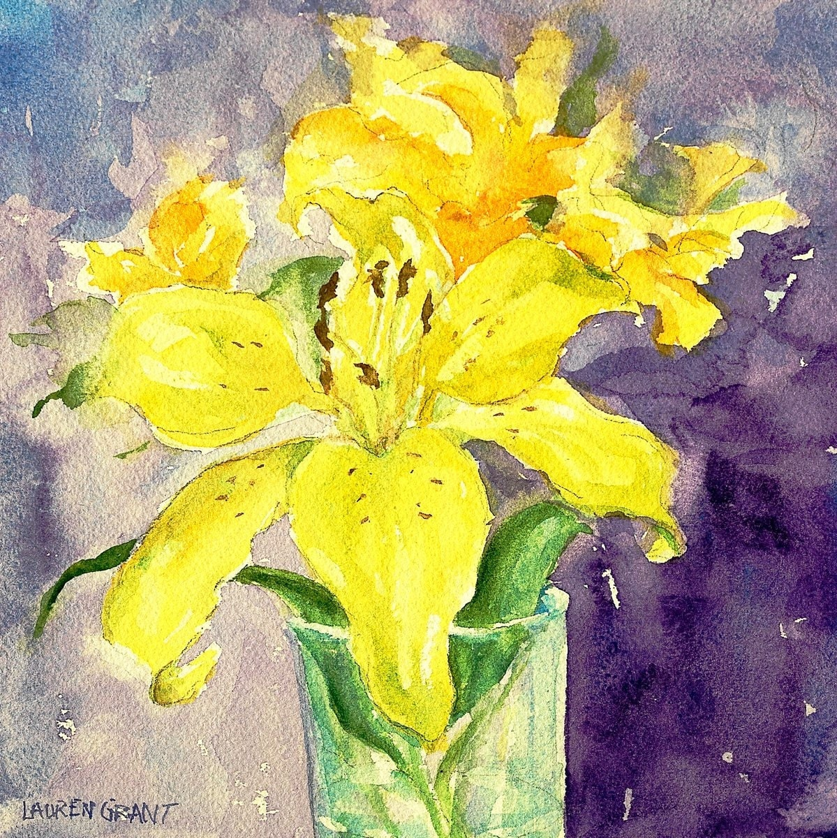 Watercolor flower painting digital print on high quality epson - High resolution watercolor flowers ...