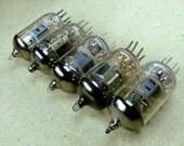 Vintage Vacuum Tubes - Steampunk - Cyberpunk - Altered Art - set of 5 -f103