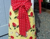 Cheerful Womens Half Apron with Apples