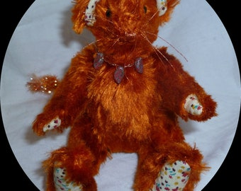 "Meece Amis Artist Mouse by Tabbyclouds ""Coppermouse"" (Collector Bear) Vintage Rayon OOAK"