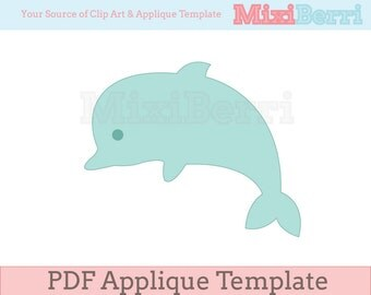 Applique Template Dolphin PDF Instant Download