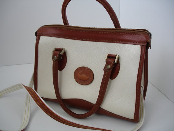 Vintage Dooney and Burke White All Weather Leather