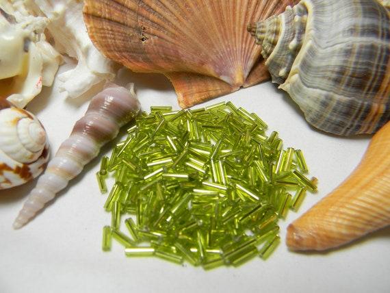 Charteuse / Green Glass Bugle Beads