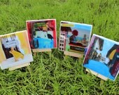 Handmade Coasters - Original Art - Group 1 - Set of 4