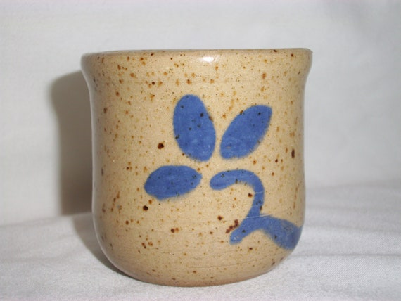 Vintage KOINONIA POTTERY VOTIVE Candle Holder, Home Decor, Home and Living, Fall Decor, Country Decor, Country Blue,