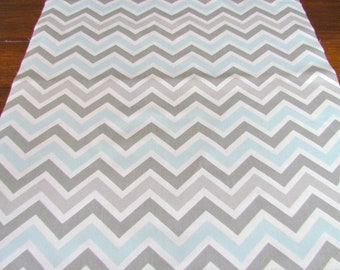TABLE RUNNER Grey Blue top Wedding Shower Chevron Table Runners Holiday Party Table Cloth Decorative baby Shower 48 60 72 84 96