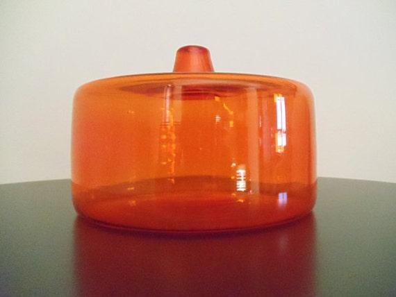 Mid Century Modern Tangerine Orange Vase