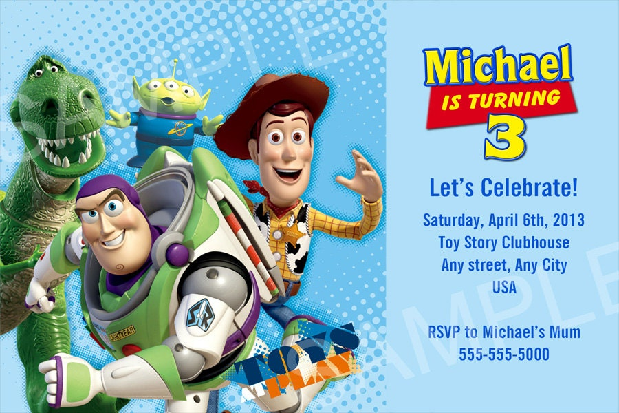 Monster image throughout free printable toy story invitations
