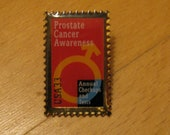 Prostate Cancer Awareness USA Postage Stamp Pin - Proceeds to Cancer Research
