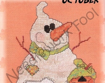 SALE CM Designs Snowball of the Month October Cross Stitch Pattern