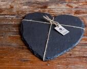 Welsh Slate Cheese Board Heart