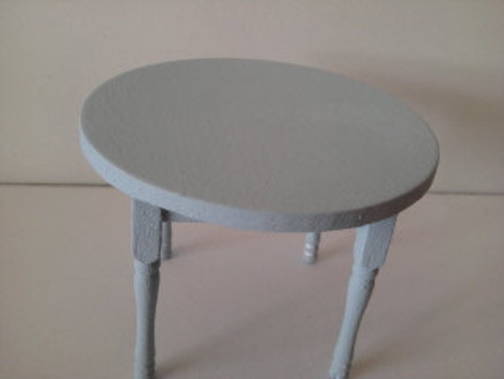 Dolls house table miniature round dining table kitchen furniture