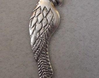 Silver Parrot Pendant