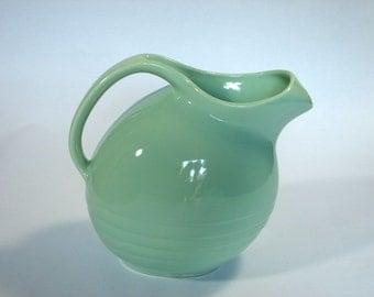 vintage Marcrest pitcher seafoam green