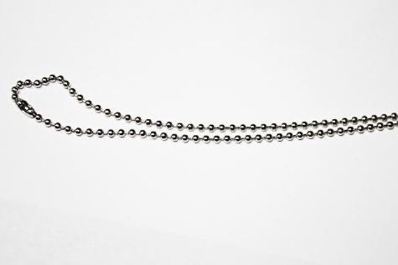 3 Necklaces  Brass Ball Necklace Chain silver 17 inch FV118
