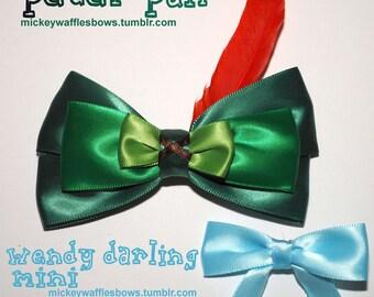 Peter Pan & Wendy Hair Bow Set