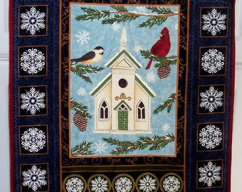 Church Among the Snowflakes Wall Hanging