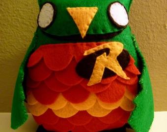 Batman Robin Inspired Owl Plush