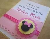 Custom Order for (Kiesha Smith)- Baby Minnie Mouse Inspired - Handmade Invitation, Modern and Elegant, Baby Shower