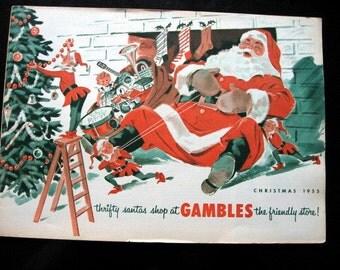1955 Gambles Department Store Christmas Catalog