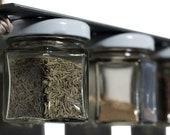 ON SALE Repurposed Magnetic Scrap Metal Spice Rack