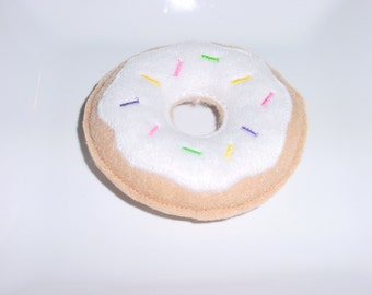 Felt Food - Donut with White Icing & Spinkles Felt Play Food
