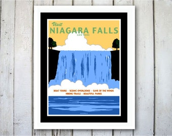 Niagara Falls New York Digital Print - 8x10.