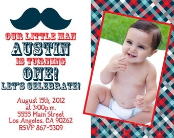 Little Man Mustache Invitation