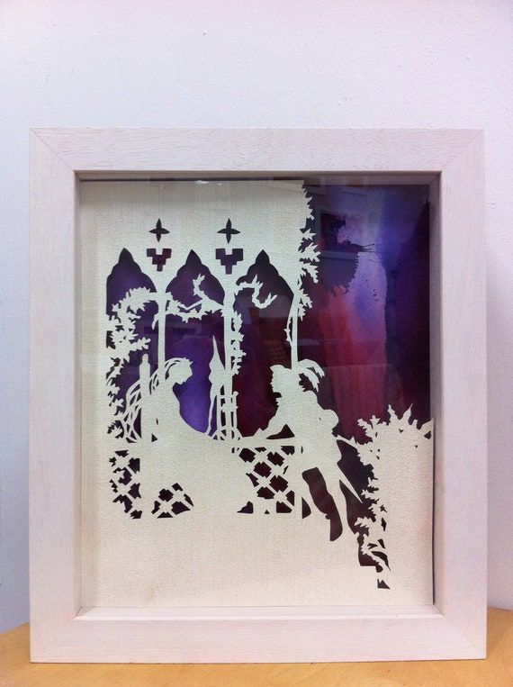 3D handmade paper sculpture for Children. Fairytale