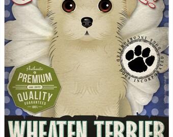 Dogs and Flowers Art Print - Wheaten Terrier Art Print 11 x 14