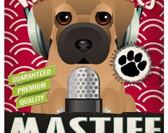 Mastiff Studio Original Art Print - Custom Dog Breed Print - 11x14 - Personalize with Your Dog's Name
