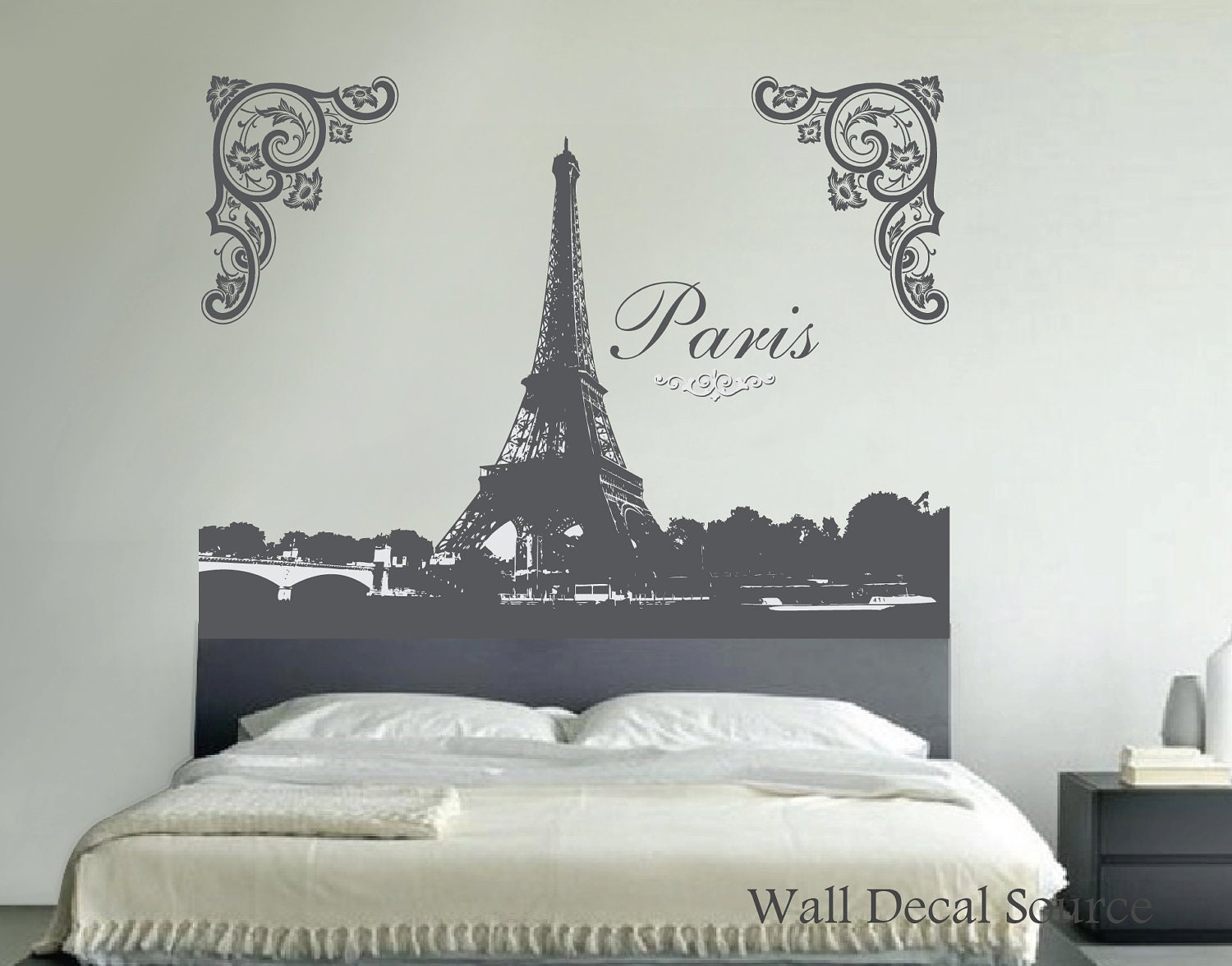 Small Eiffel Tower Wall Decor : Eiffel tower wall decal art by walldecalsource