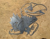 KU Jayhawk Metal Decor