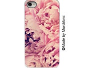 Iphone 4 Case.  Pink Peony. Floral iPhone cover. Peonies. Pink Flower. Girly. Iphone 4s case. Iphone 4s case