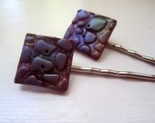 Grape O Luscious Button Bobby Pins