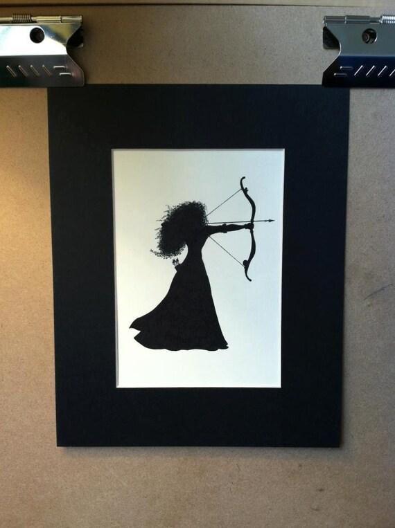 Disney Pixar's Brave Merida Silhouette