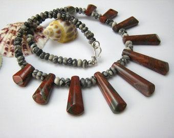 poppy  jasper necklace
