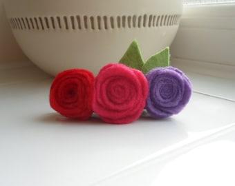Flower Hair Clip, Rose Hair Accessory, Flower Accessory, Felt Hair Accessory, Gift for Daughter, Gift for Girls , Birthday Gift,
