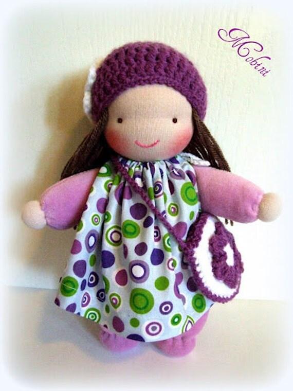 Waldorf doll-purple