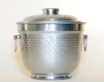 Vintage Hammered Aluminum Italian Ice Bucket