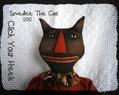 SMEDLEE the cat & fall pumpkin primitive doll E pattern click your heels
