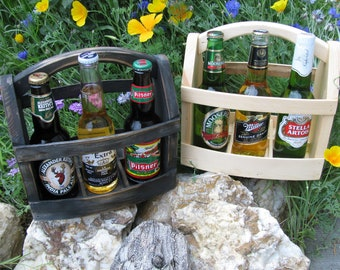 Six handmade Beer bottle six pack carrier Wood beer box 6 pack carrier Beer boat.